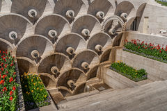 Marble monument in Soviet style in Yerevan Stock Image