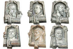 Marble monuments. Of famous doctors of antiquity Royalty Free Stock Photo