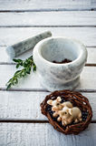 Marble mortar Stock Photography