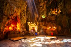 Marble mountains cave in Danang. City in Vietnam Stock Image