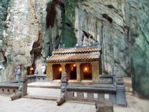 Cave monastery, Vietnam royalty free stock photos