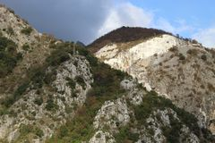 The Marble mountains in Italy royalty free stock photography