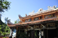Marble Mountains Temple. Temple at the Marble Mountains in Vietnam royalty free stock photography