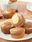 Marble muffins Stock Photography