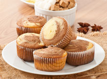 Marble muffins Stock Photo