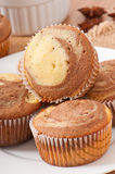 Marble muffins Royalty Free Stock Image