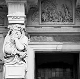 Marble in old historical construction italy europe milan and sta Stock Photos