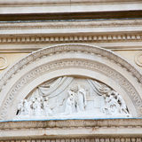 marble in old historical construction italy europe milan and sta royalty free stock photo