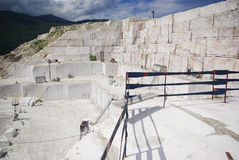 Marble open-cast mine. Summer educational practice in Khakasia Royalty Free Stock Photography