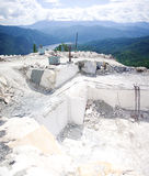 Marble open-cast mine. Summer educational practice in Khakasia Royalty Free Stock Images