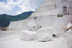 Marble open-cast mine Royalty Free Stock Photo