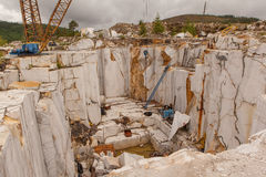 Marble open-cast mine Royalty Free Stock Photography