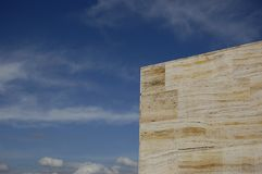 Marble opposite to blue sky. Marble opposite to a blue sky Royalty Free Stock Photo