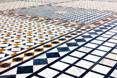 Marble ornamented pavement Stock Images
