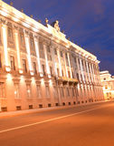 Marble Palace and embankment of Neva River. Stock Image