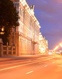 Marble Palace and embankment of Neva River. Stock Photo