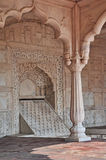 A Marble Palace Pavillion Red Fort Delhi Stock Images