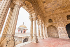Marble Palaces in Agra Fort, India Stock Image
