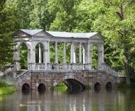Marble (Palladian) Bridge, or Siberian Marble gallery. Catherine Park. Pushkin. Petersburg Royalty Free Stock Photo