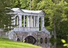 Marble (Palladian) Bridge, or Siberian Marble gallery. Catherine Park. Pushkin. Petersburg Royalty Free Stock Photos