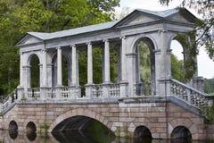 Marble (Palladian) Bridge, or Siberian Marble gallery. Catherine Park. Pushkin. Petersburg Stock Photos