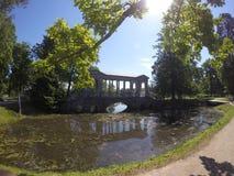 Marble (Palladian) Bridge, or Siberian Marble gallery. Catherine Park. Pushkin. Petersburg Stock Image