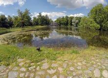 Marble Palladian Bridge, or Siberian Marble gallery, 18th century. Catherine Park. Pushkin. Petersburg.  Stock Photos