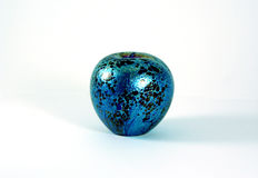 Marble Paperweight. Apple shaped marble paperweight Stock Photo