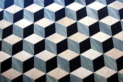 Marble Parquet Floor. Close-up of a classic marble parquet floor with a geometric pattern Royalty Free Stock Images