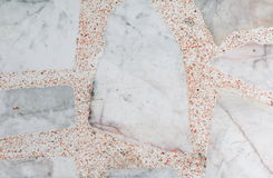 Marble patterned  texture Terrazzo Floor, polished stone Stock Photography