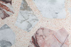 Marble patterned  texture Terrazzo Floor, polished stone. Pattern background  and color Stock Photography