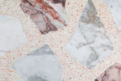 Marble patterned  texture Terrazzo Floor polished stone pattern Royalty Free Stock Images