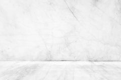 Marble pavement with white wall. Royalty Free Stock Photo
