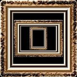 Marble picture frame generated isolated texture Stock Images