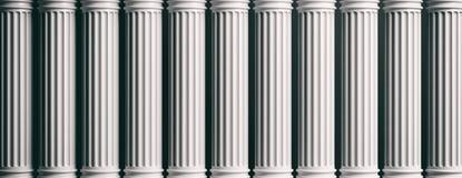 Marble pillars on black background. 3d illustration. Marble classical pillars row on black background. 3d illustration Royalty Free Stock Photo