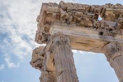 Marble pillars, Pergamon Stock Images