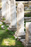 Marble pillars from roman empire city Royalty Free Stock Image
