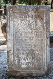 Marble Plaque Olympia Greece Royalty Free Stock Image