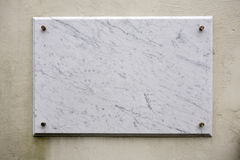 Marble plate Royalty Free Stock Photography