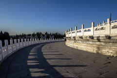 Marble platform in Temple of Heaven. Marble platform of Hall of Prayer for Good harvest, Temple of Heaven of Beijing Stock Images