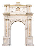 Marble portal in Gothic-Renaissance style suitable as frame or b Stock Photo