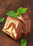 Marble pound cake Royalty Free Stock Photo