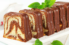 Marble pound cake Royalty Free Stock Images