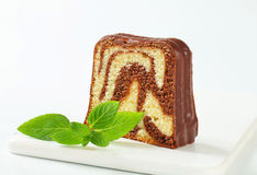 Marble pound cake Royalty Free Stock Photo
