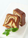 Marble pound cake Stock Images