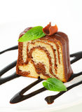 Marble pound cake Royalty Free Stock Photography