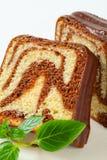 Marble pound cake Stock Photography