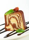 Marble pound cake Royalty Free Stock Photos