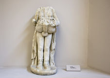 Marble Priapos statue from Ephesus, head and one hand missing Stock Photos