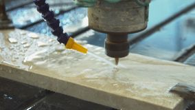 Marble process, close up stock video footage